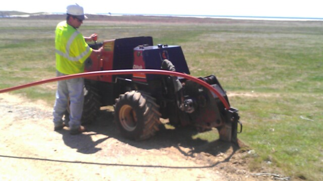 Vibratory Plowing | R W  Bryant Contracting, INC
